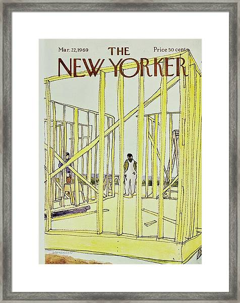 New Yorker March 22nd 1969 Framed Print by James Stevenson