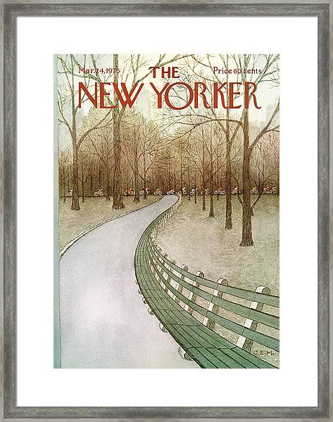 New Yorker March 24th, 1975 Framed Print