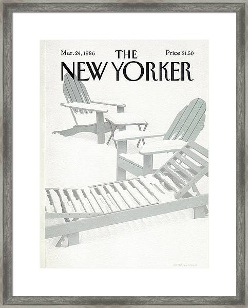 New Yorker March 24th, 1986 Framed Print