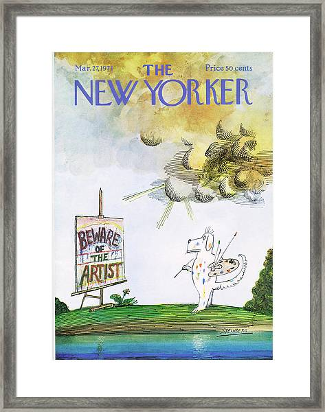 New Yorker March 27th, 1971 Framed Print
