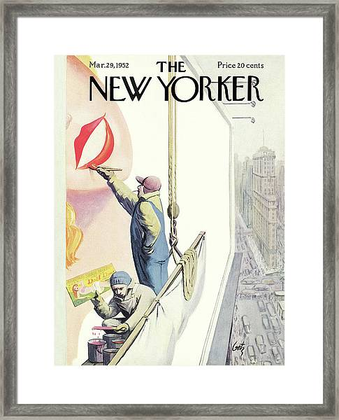 New Yorker March 29th, 1952 Framed Print