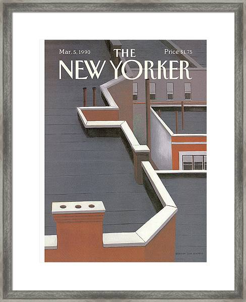 New Yorker March 5th, 1990 Framed Print by Gretchen Dow Simpson