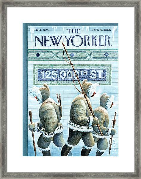 New Yorker March 6th, 2006 Framed Print by Eric Drooker