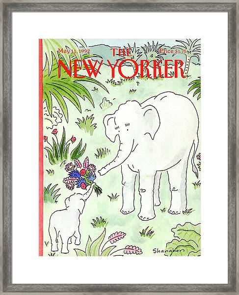 New Yorker May 11th, 1992 Framed Print