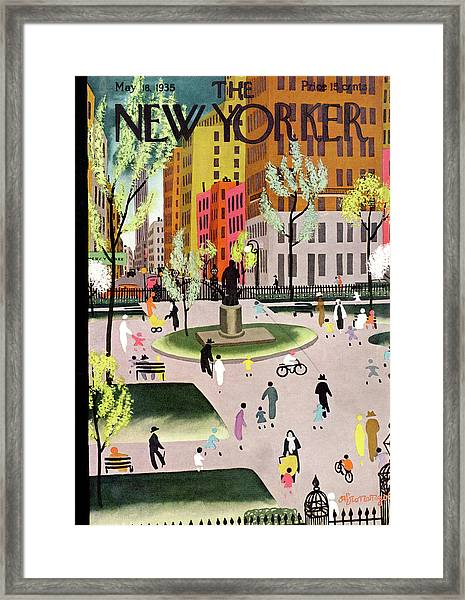 New Yorker May 18th, 1935 Framed Print