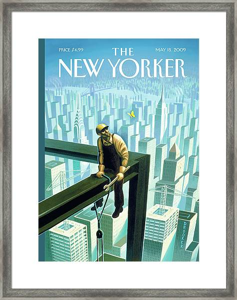 New Yorker May 18th, 2009 Framed Print by Eric Drooker