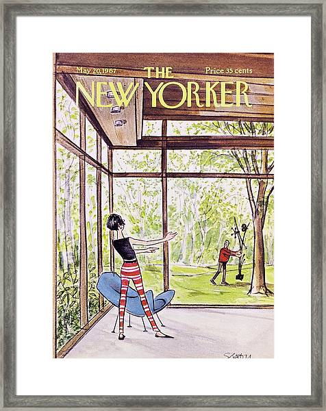 New Yorker May 20th 1967 Framed Print by Charles D Saxon