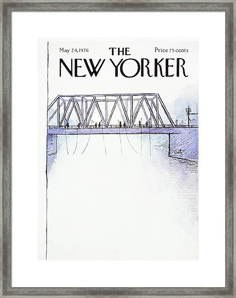 New Yorker May 24th 1976 Framed Print by Arthur Getz