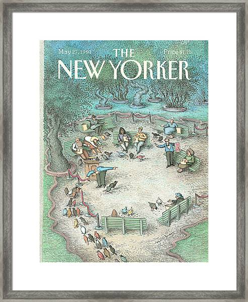 New Yorker May 27th, 1991 Framed Print