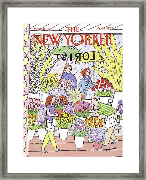 New Yorker May 28th, 1990 Framed Print