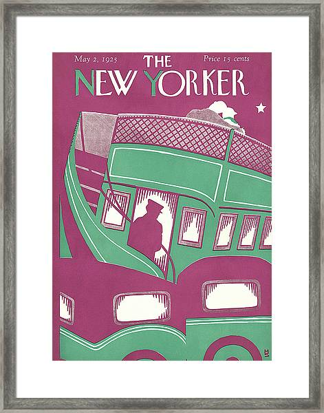 New Yorker May 2nd, 1925 Framed Print