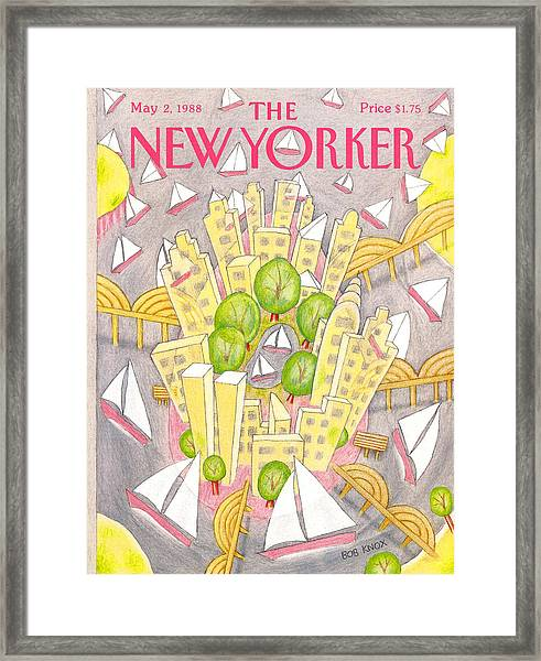 New Yorker May 2nd, 1988 Framed Print