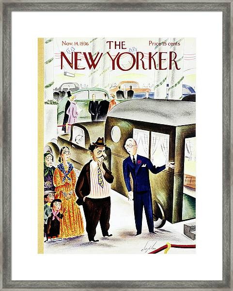 New Yorker November 14 1936 Framed Print by Constantin Alajalov
