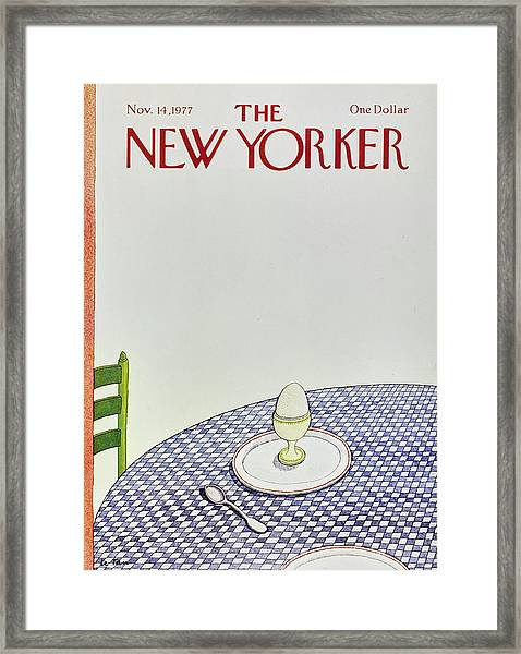 New Yorker November 14th 1977 Framed Print by Pierre Le-Tan
