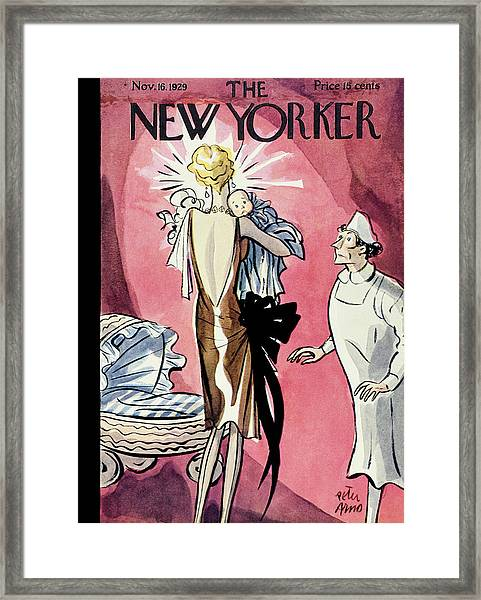 New Yorker November 16 1929 Framed Print by Peter Arno