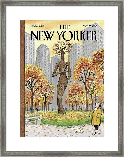 New Yorker November 19th, 2001 Framed Print