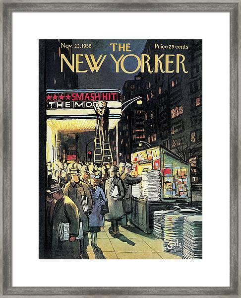 New Yorker November 22nd, 1958 Framed Print