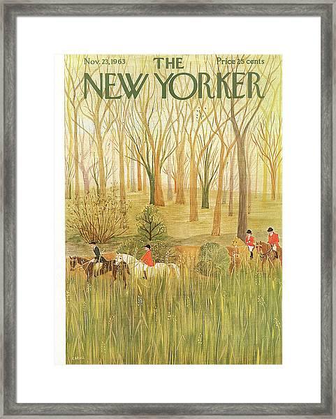 New Yorker November 23rd, 1963 Framed Print