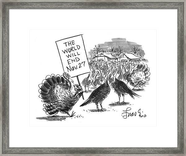 New Yorker November 24th, 1997 Framed Print