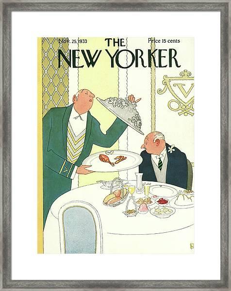 New Yorker November 25th, 1933 Framed Print