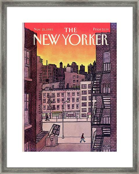 New Yorker November 25th, 1985 Framed Print