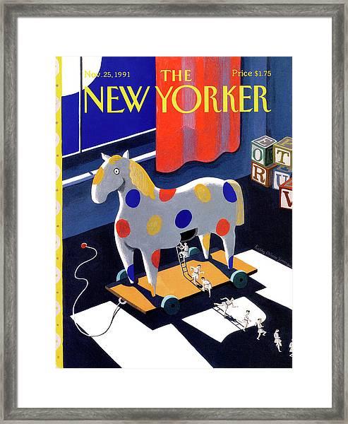 New Yorker November 25th, 1991 Framed Print by Kathy Osborn