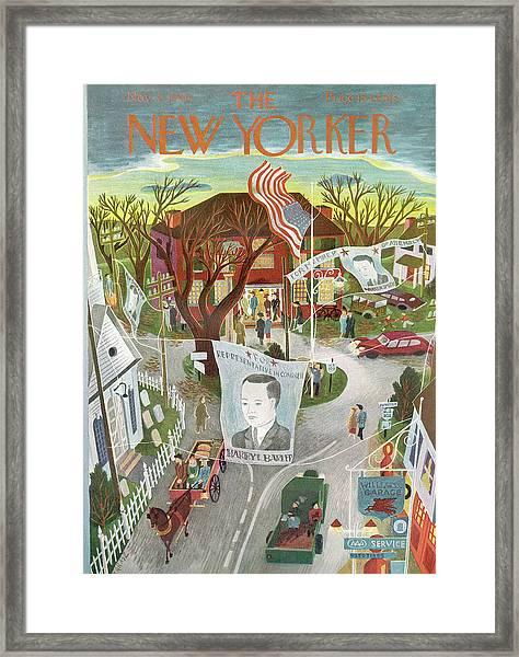 New Yorker November 2nd, 1946 Framed Print