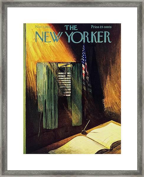 New Yorker November 3rd 1962 Framed Print by Arthur Getz