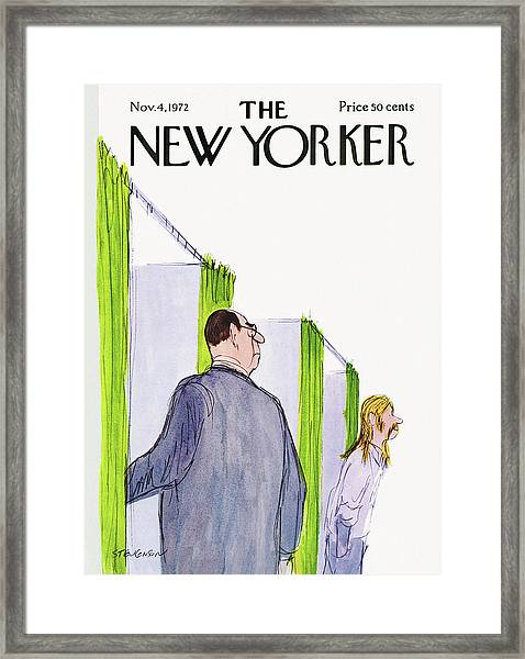 New Yorker November 4th, 1972 Framed Print