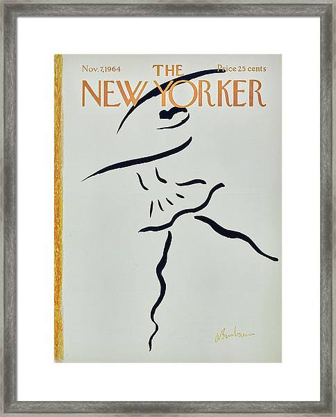 New Yorker November 7th 1964 Framed Print by Aaron Birnbaum