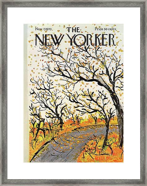 New Yorker November 7th, 1970 Framed Print