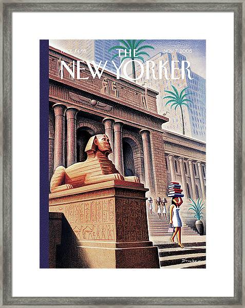 New Yorker November 7th, 2005 Framed Print by Eric Drooker