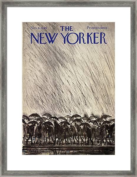 New Yorker November 8th, 1969 Framed Print