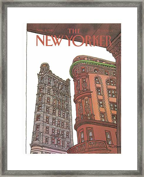 New Yorker November 9th, 1981 Framed Print