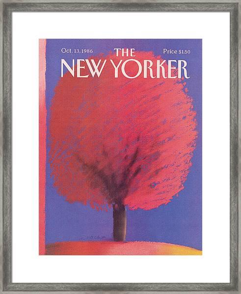 New Yorker October 13th, 1986 Framed Print