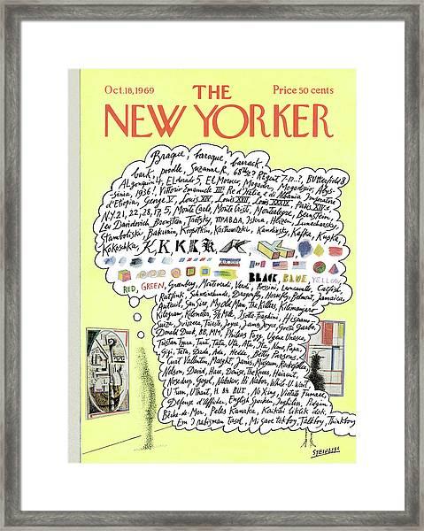 New Yorker October 18th, 1969 Framed Print
