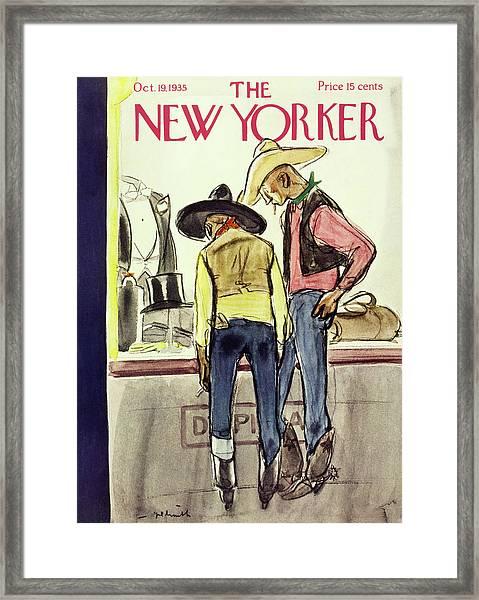 New Yorker October 19 1935 Framed Print