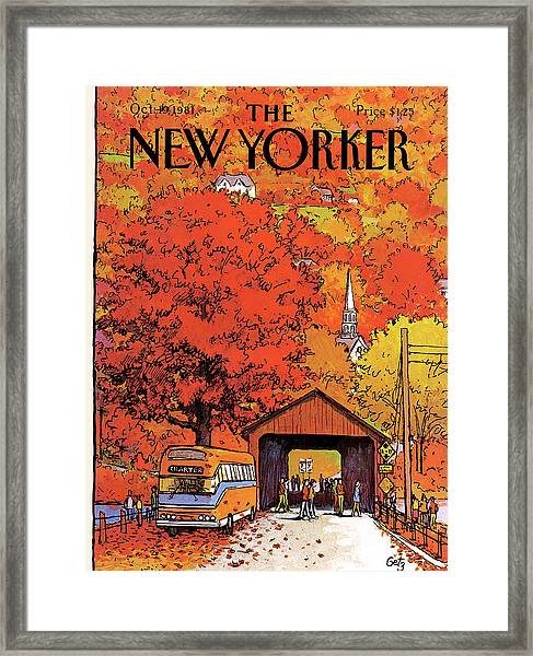 New Yorker October 19th, 1981 Framed Print