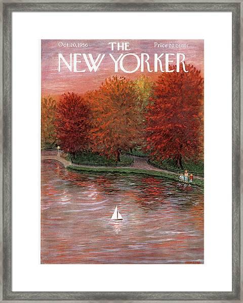 New Yorker October 20th, 1956 Framed Print