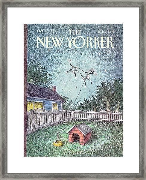 New Yorker October 21st, 1991 Framed Print