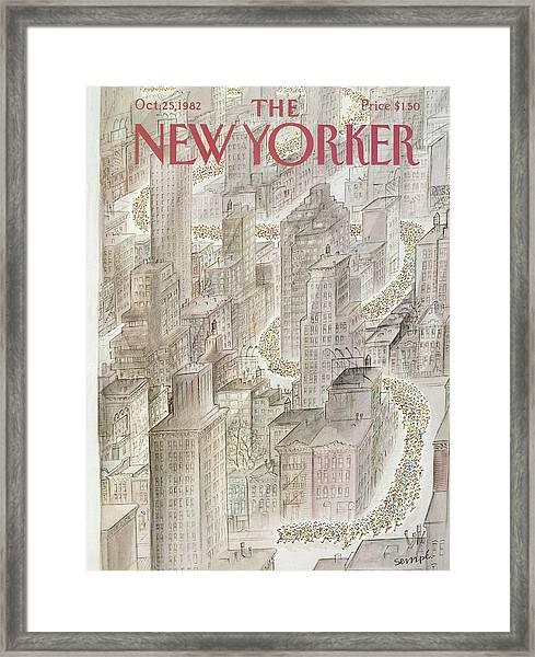 New Yorker October 25th, 1982 Framed Print