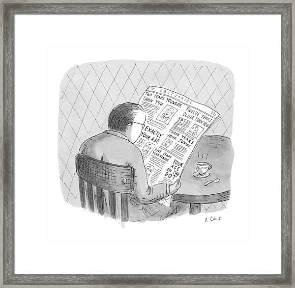 New Yorker October 25th, 1993 Framed Print