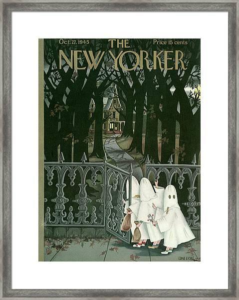 New Yorker October 27, 1945 Framed Print