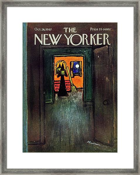 New Yorker October 28th 1967 Framed Print by Aaron Birnbaum