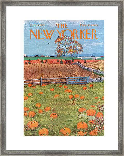 New Yorker October 28th, 1972 Framed Print