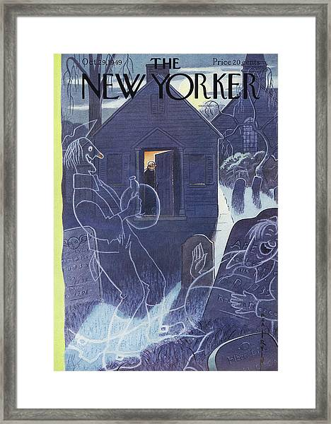 New Yorker October 29th, 1949 Framed Print