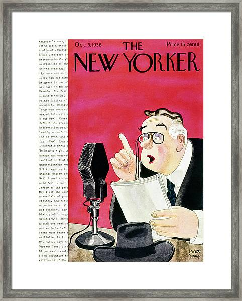New Yorker October 3 1936 Framed Print by Robert Day