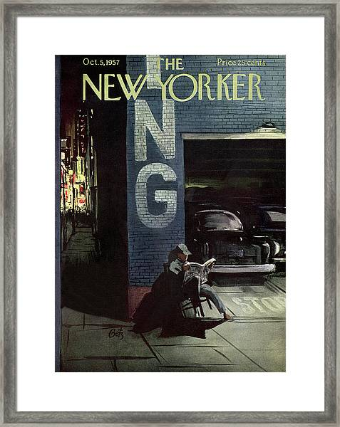 New Yorker October 5th, 1957 Framed Print