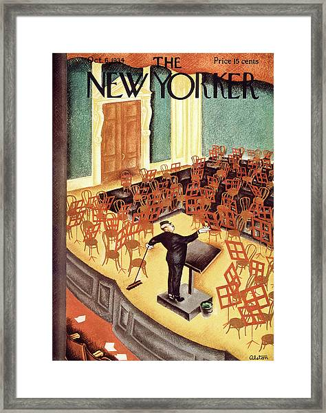 New Yorker October 6th, 1934 Framed Print by Charles Alston