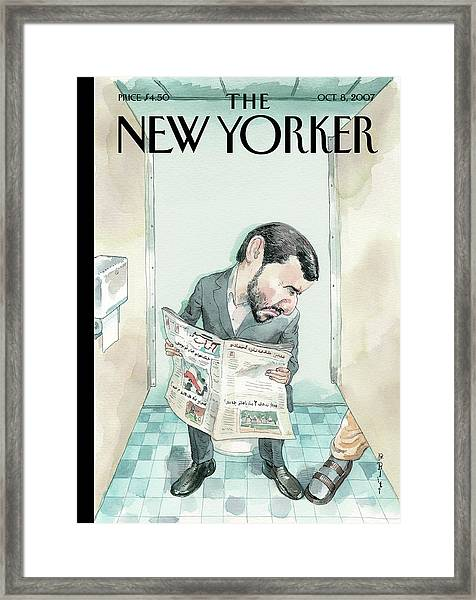 New Yorker October 8th, 2007 Framed Print